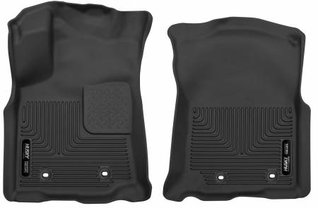 Husky Liners - Husky Liners 2018 Toyota Tacoma Crew/Extended Cab X-Act Contour Black Front Floor Liners