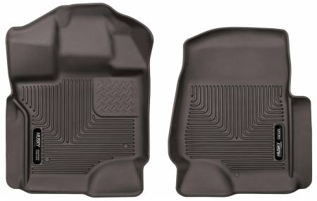 Husky Liners - Husky Liners 15-17 Ford F-150 SuperCrew Cab X-Act Contour Cocoa Front Floor Liners