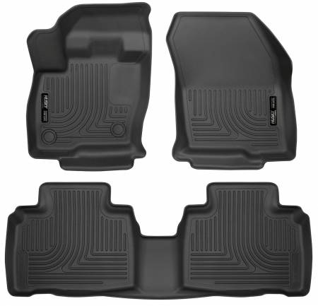 Husky Liners - Husky Liners 2015 Ford Edge WeatherBeater Front & 2nd Row Combo Black Floor Liners