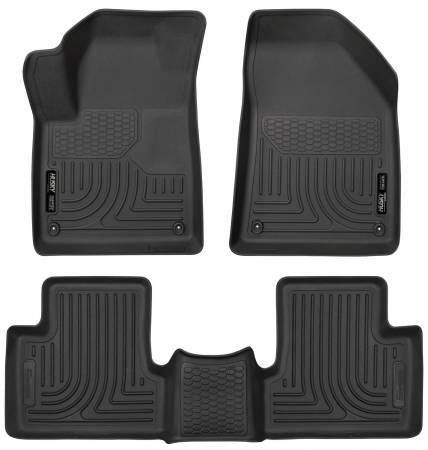 Husky Liners - Husky Liners 2015 Jeep Cherokee WeatherBeater Combo Black Floor Liners