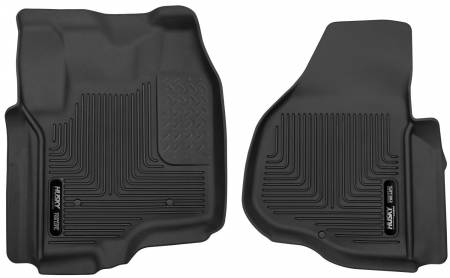 Husky Liners - Husky Liners 12-13 F-250/F-350/F-450 Super Duty X-Act Contour Black Front Floor Liners
