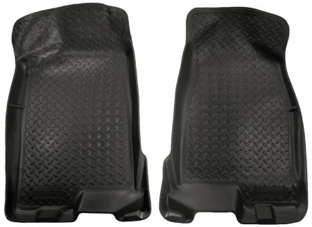 Husky Liners - Husky Liners 04-12 Chevy Colorado/GMC Canyon Crew Cab Classic Style Black Floor Liners
