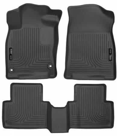 Husky Liners - Husky Liners 2016 Honda Civic (4DR) WeatherBeater Combo Black Floor Liners