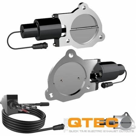 QTP (Quick Time Performance) - QTP 3.5in Bolt-On QTEC Dual Electric Cutout Valves - Pair