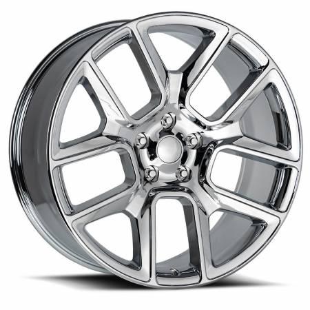 Factory Reproductions Wheels - FR Series 76 Replica Ram 1500 Wheel 24X10 5X5.5 ET15 77.8CB Chrome