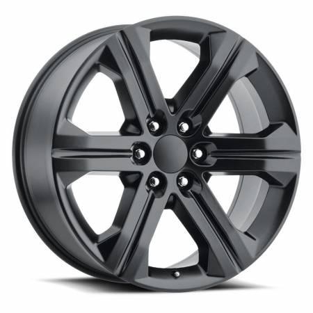 Factory Reproductions Wheels - FR Series 47 Replica GMC Sierra Wheel 22X9 6X5.5 ET24 78.1CB Satin Black