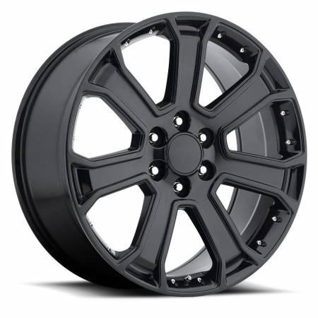 Factory Reproductions Wheels - FR Series 49 Replica Yukon Denali Wheel 22X9 6X5.5 ET31 78.1CB Gloss Black
