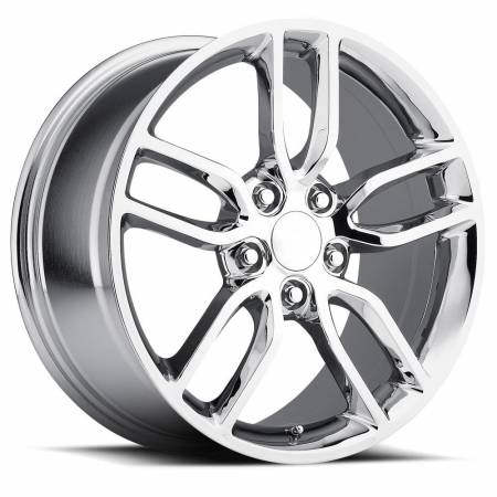 Factory Reproductions Wheels - FR Series 26 Replica C7 Corvette Wheel 18X8.5 5X4.75 ET56 70.3CB Chrome