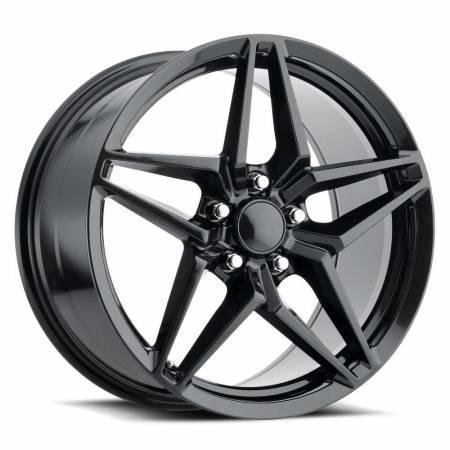 Factory Reproductions Wheels - FR Series 29 Replica Corvette ZR1 Wheel 20X12 5X4.75 ET59 70.3CB Carbon Black