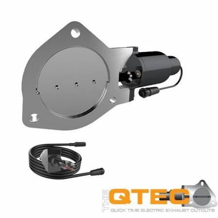 QTP (Quick Time Performance) - QTP 4in Bolt-On QTEC Electric Cutout Valve - Single