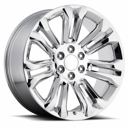 Factory Reproductions Wheels - FR Series 55 Replica GMC Wheel 24X10 6X5.5 ET31 78.1CB Chrome