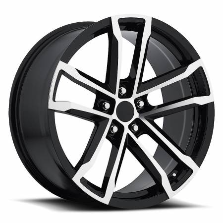 Factory Reproductions Wheels - FR Series 41 Replica Camaro Wheel 18X8 5X120 ET27 66.9CB Gloss Black Machine Face