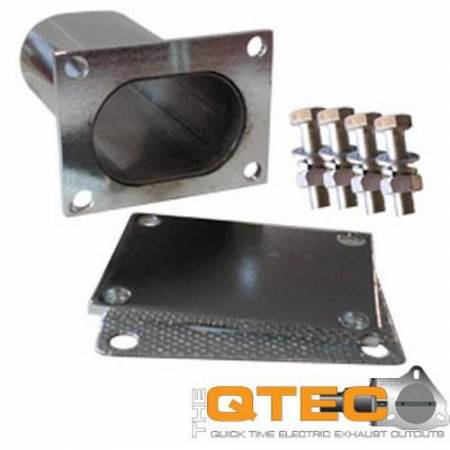 QTP (Quick Time Performance) - QTP 3in Weld-On QTEC Low Profile Conncetion Oval Tube Kit