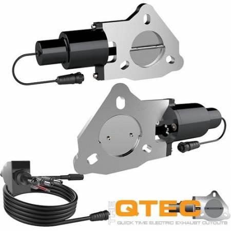 QTP (Quick Time Performance) - QTP 2.25in Bolt-On QTEC Dual Electric Cutout Valves - Pair