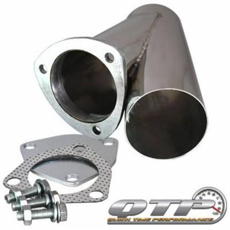 QTP (Quick Time Performance) - QTP 3.5in Weld-On QTEC Exhaust Cutout Y-Pipe