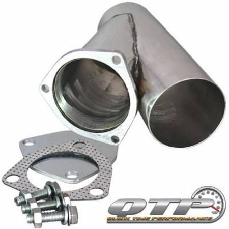 QTP (Quick Time Performance) - QTP 4in Weld-On QTEC Exhaust Cutout Y-Pipe