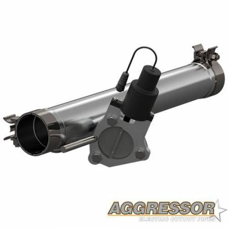 QTP (Quick Time Performance) - QTP 09-18 Ram 1500 3in 304SS Aggressor Cutout Mid Pipe