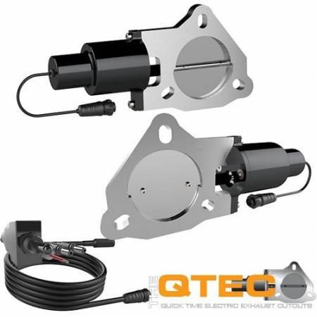 QTP (Quick Time Performance) - QTP 3in Bolt-On QTEC Dual Electric Cutout Valves - Pair