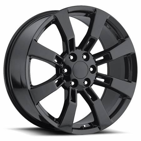 Factory Reproductions Wheels - FR Series 40 Replica Denali Wheel 20X8.5 6X5.5 ET31 78.1CB Gloss Black