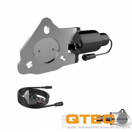 QTP (Quick Time Performance) - QTP 2.5in Bolt-On QTEC Electric Cutout Valve - Single