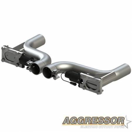 QTP (Quick Time Performance) - QTP 10-15 Chevrolet Camaro SS 6.2L 2.5in 304SS Aggressor Cutout Dual Mid Pipes