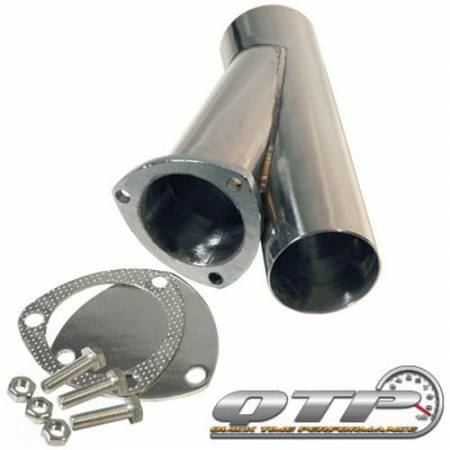 QTP (Quick Time Performance) - QTP 3in Weld-On QTEC Exhaust Cutout Y-Pipe