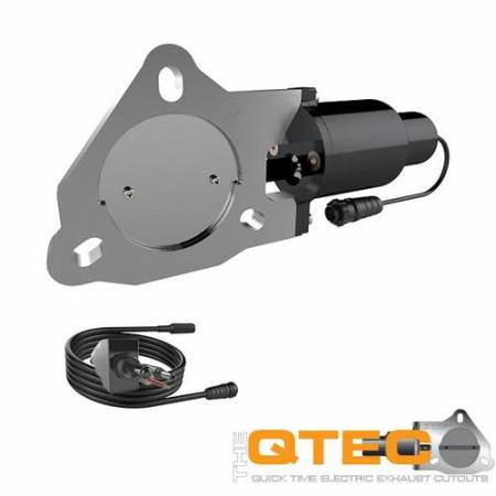 QTP (Quick Time Performance) - QTP 3in Bolt-On QTEC Electric Cutout Valve - Single