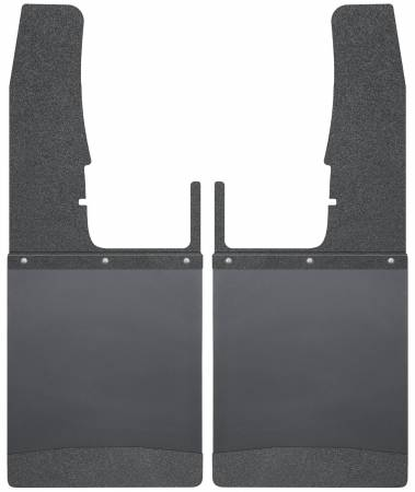 Husky Liners - Husky Liners 09-16 Dodge Ram 1500/2500/3500 12in W Black Top & Weight Kick Back Front Mud Flaps