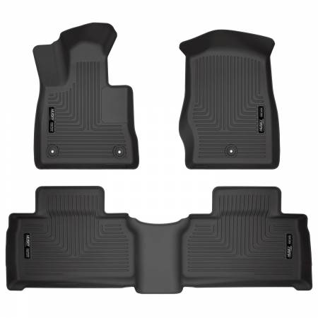 Husky Liners - Husky Liners 2020 Ford Explorer Weatherbeater Black Front & 2nd Seat Floor Liners