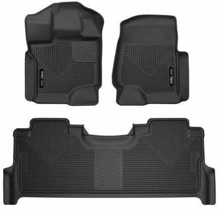 Husky Liners - Husky Liners 17-19 Ford F-250 Super Duty CC w/Storage Box Front & 2nd Seat X-Act Floor Liners