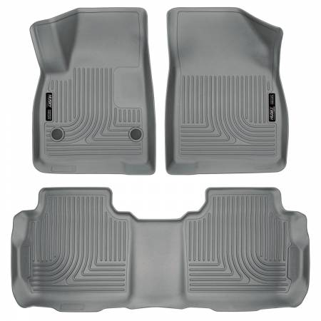 Husky Liners - Husky Liners Weatherbeater 2017 Cadillac XT5 / 2017 GMC Acadia Front & 2nd Seat Floor Liners - Grey