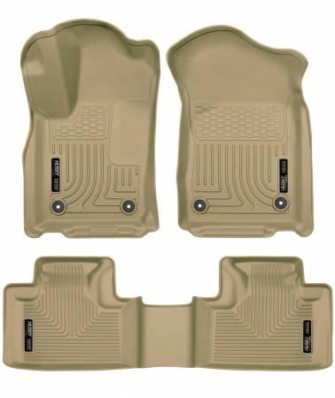 Husky Liners - Husky Liners 16 Dodge Durango/Jeep Grand Cherokee Weatherbeater Tan Front & 2nd Seat Floor Liners