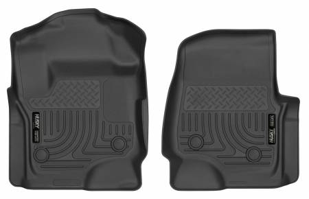Husky Liners - Husky Liners 17 Ford F-250 Super Duty SuperCab WeatherBeater Black Floor Liners