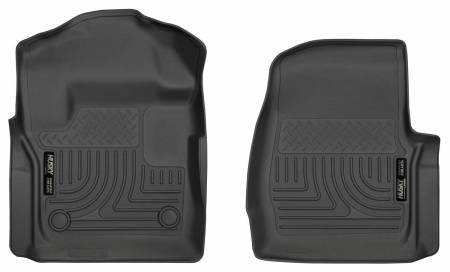 Husky Liners - Husky Liners 17 Ford F-250 F-350 Super Duty Standard Cab WeatherBeater Black Front Floor Liners