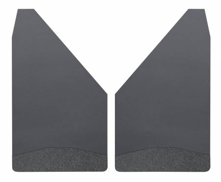 Husky Liners - Husky Liners Universal 12in Wide Black Rubber Front Mud Flaps w/ Black Weight