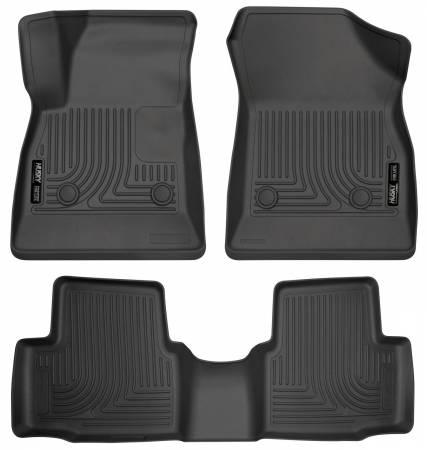 Husky Liners - Husky Liners 2016-2017 Chevrolet Cruze WeatherBeater Combo Floor Liners - Black