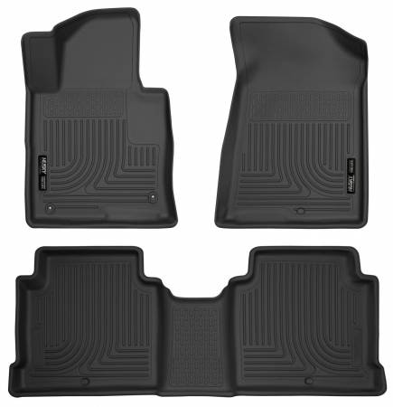 Husky Liners - Husky Liners 2015 Hyundai Sonata Weatherbeater Black Front & 2nd Seat Floor Liners