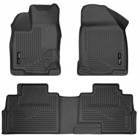 Husky Liners - Husky Liners 07-13 Ford Edge / 07-13 Lincoln MKX Weatherbeater Black Front & 2nd Seat Floor Liners