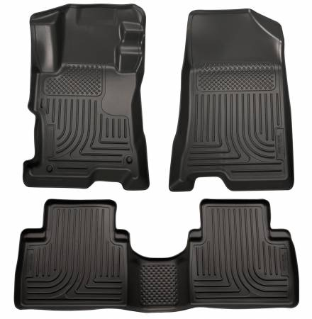 Husky Liners - Husky Liners 14 Kia Sorento Weatherbeater Black Front & 2nd Seat Floor Liners