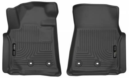 Husky Liners - Husky Liners 13-16 Lexus LX570 / 13-16 Toyota Land Cruiser Weatherbeater Black Front Floor Liners