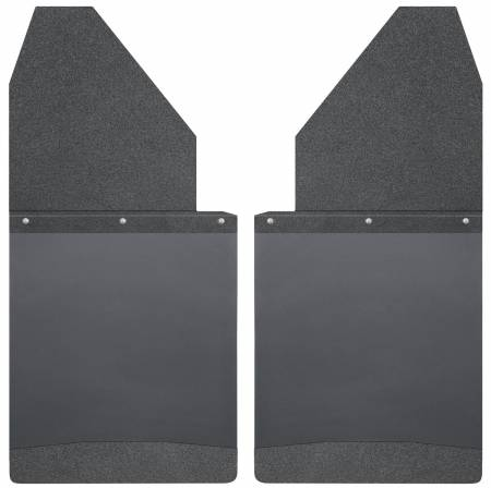 Husky Liners - Husky Liners Universal 14in W Black Top & Weight Kick Back Mud Flaps
