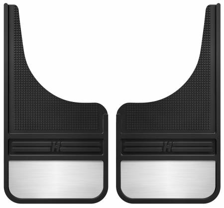 Husky Liners - Husky Liners Universal 12in Wide Black Rubber Front Mud Flaps w/ Weight