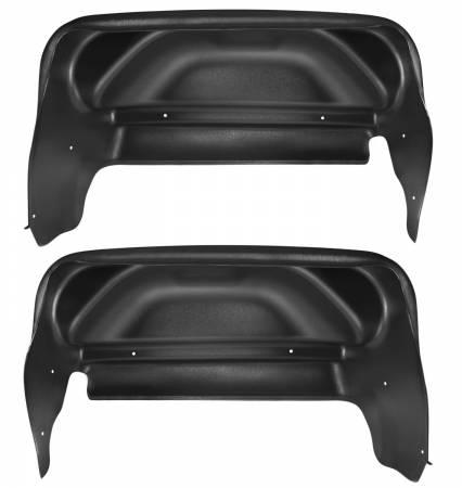 Husky Liners - Husky Liners 14-17 GMC Sierra Black Rear Wheel Well Guards