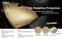 3D MAXpider (U-Ace) - 3D MAXpider FLOOR MATS BUICK ENCLAVE 2008-2017 WITH BENCH 2ND ROW/ CHEVROLET TRAVERSE 2009-2017/ GMC ACADIA 2007-2016/ GMC ACADIA LIMITED 2017 KAGU TAN R3 - Image 4