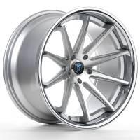 Rohana Wheels - Rohana Wheels Rim RC10 19x8.5 5x120 15ET Machine Silver/Chrome Lip - Image 2