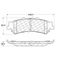 StopTech - StopTech 105.07920 Disc Brake Pad - Image 1