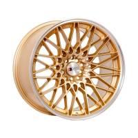 F1R Wheels - F1R Wheels Rim F23 18x10.5 5x100/114.3 ET40 Gold/Polish Lip - Image 1
