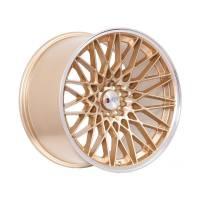F1R Wheels - F1R Wheels Rim F23 18x10.5 5x100/114.3 ET40 Gold/Polish Lip - Image 3