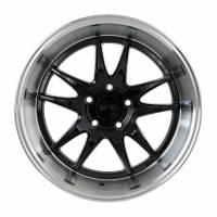 F1R Wheels - F1R Wheels Rim F102 18x9.5 5x100 ET38 Gloss Black/Polish Lip - Image 1