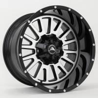 American Off-Road Wheels - American Off-Road Wheels Rim A105 20x10 8x170 ET-24 125.2CB Black Machined - Image 1